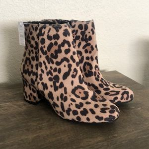 Leopard chunky boots